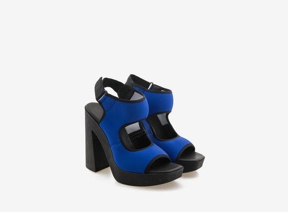 Neoprene sandal on rubber bottom - Blue / Black