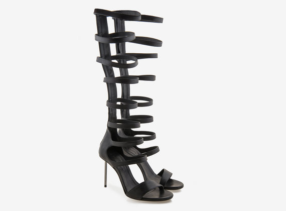 Gladiator boot with steel stiletto