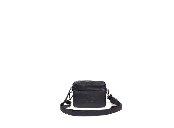 Mini-bag nera con fondo a scatola