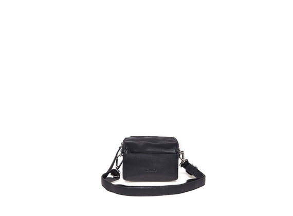 Mini sac noir à fond rigide