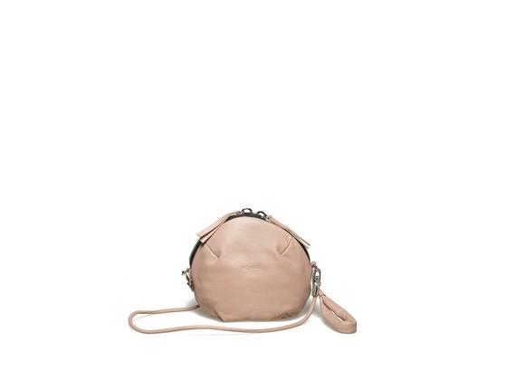 Pochette con borchie sul fondo - Cipria