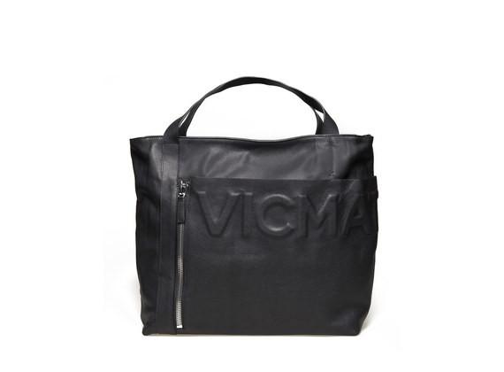 Tote Bag mit aufgesetzter Tasche und Logo