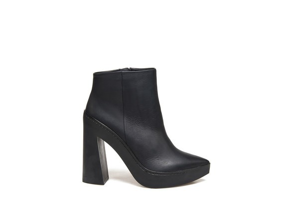 Ankle Boots with Flared Rubber Heel
