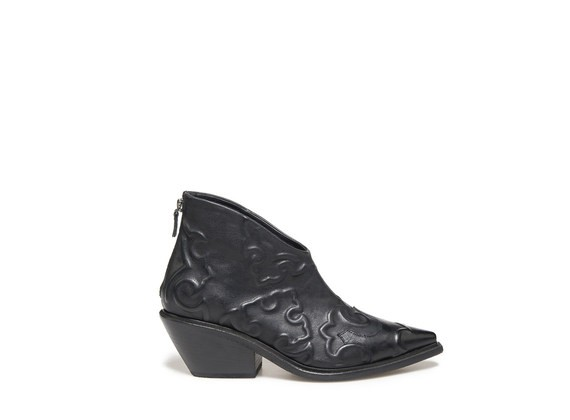 Texan boots with under leather embroidery