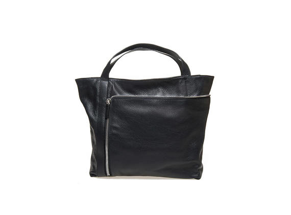 Shopping bag with maxi zip