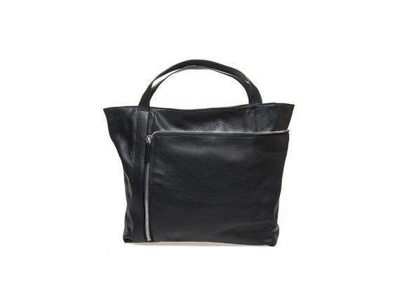 Shopping bag with maxi zip