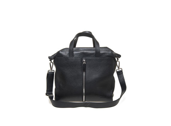 Tote bag with central zip