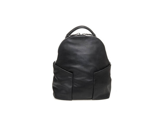 Backpack with side cargo pockets