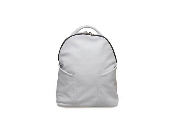White backpack with side cargo pockets