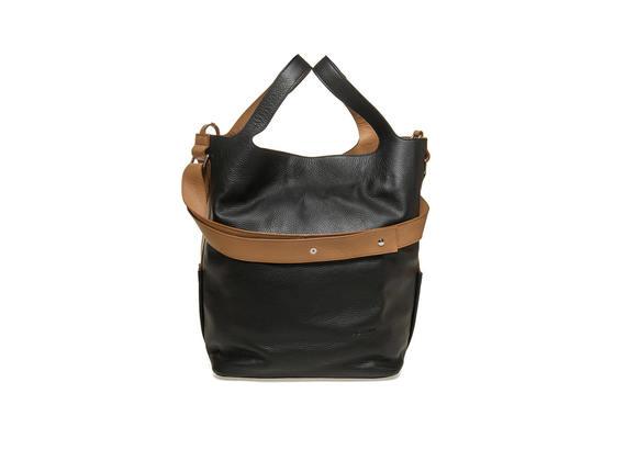 Maxi-Tasche mit kontrastierendem Umhängeriemen
