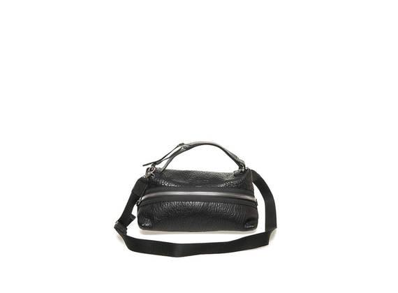 Trapezförmige Tasche mit Reißverschluss - Schwarz