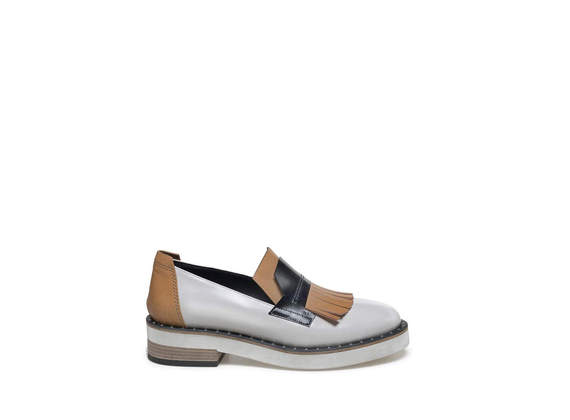 Colour block loafer