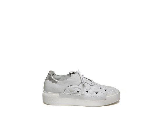 Lace-up shoe with perforations