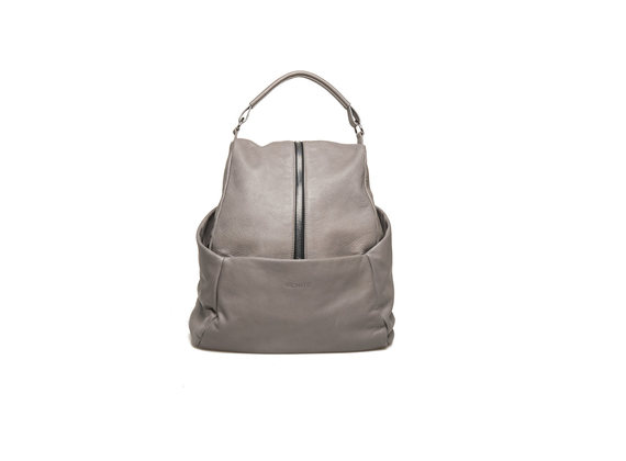 Dove grey leather backpack
