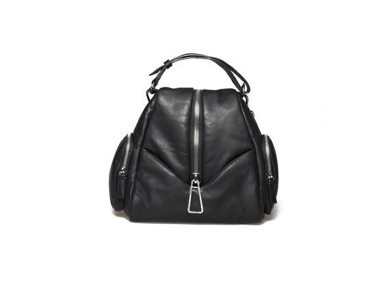 Petit sac à dos en cuir noir