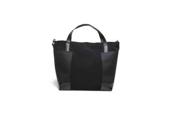 Black neoprene shopping bag