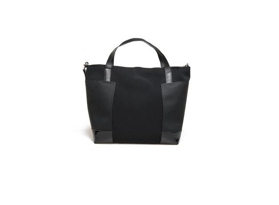 Shopping bag nera in neoprene