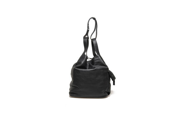 Black gym sack with side pocket