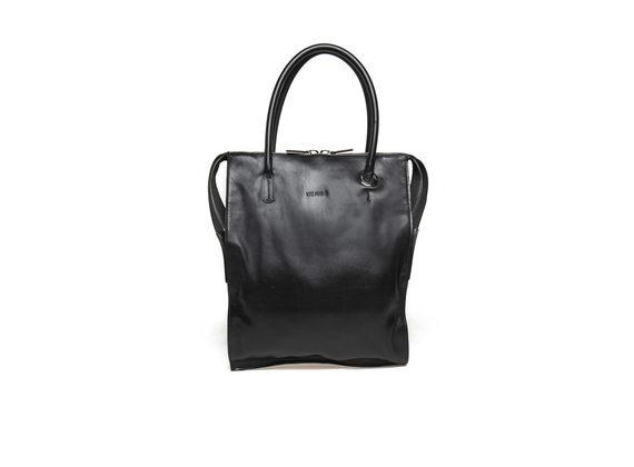 Black neoprene shopping bag with maxi eyelet