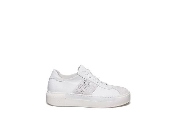 Chaussure lacée en cuir white