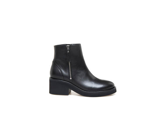 Bottines à zip latéral