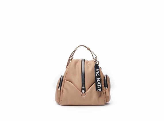 Carol mini backpack with central zip in pink