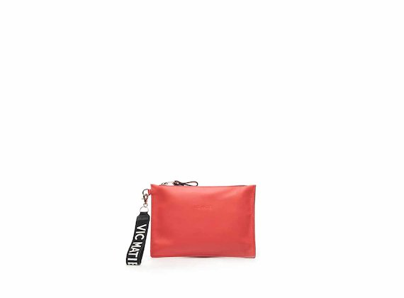 Madeline fuchsia nappa leather clutch