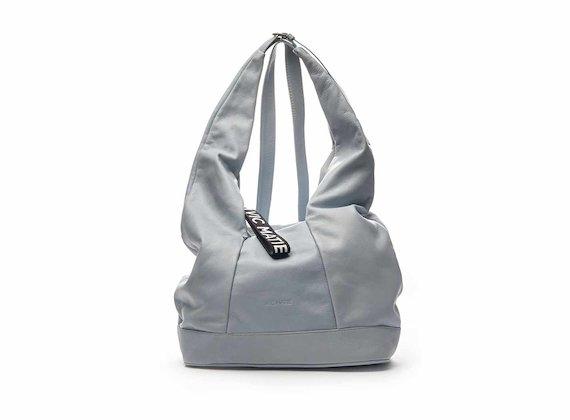 Kim sky blue nappa leather drawstring bag