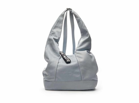 Kim sky blue nappa leather drawstring bag