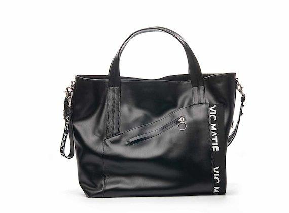 Shopping bag Sandy con tasca asimmetrica