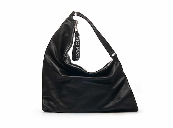 Luna bag with multicoloured black/silver folds