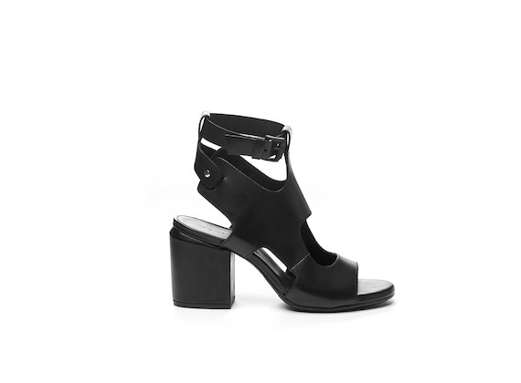 Cut-out sandal with ankle strap