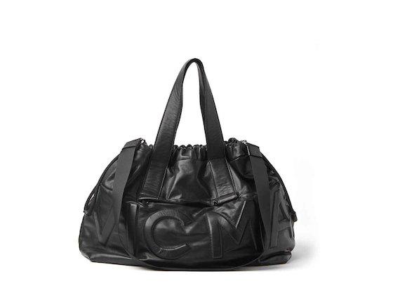Penelope<br />maxi shopper bag with logo