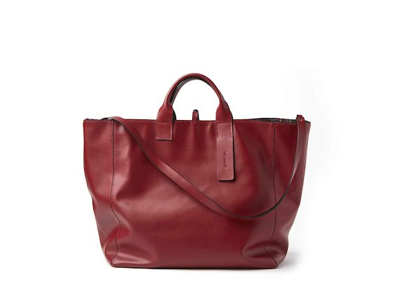 Violante<br />red reversible maxi shopper bag