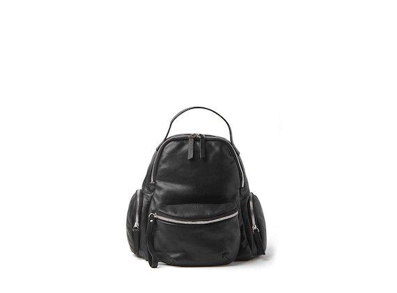 Asia<br />Schwarzer Rucksack mit herausnehmbarer Gürteltasche