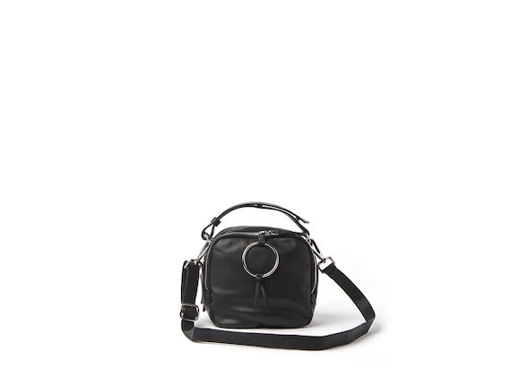 Clarissa<br />black mini bag with ring