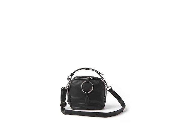 Mini sac Clarissa<br />noir avec anneau - Noir