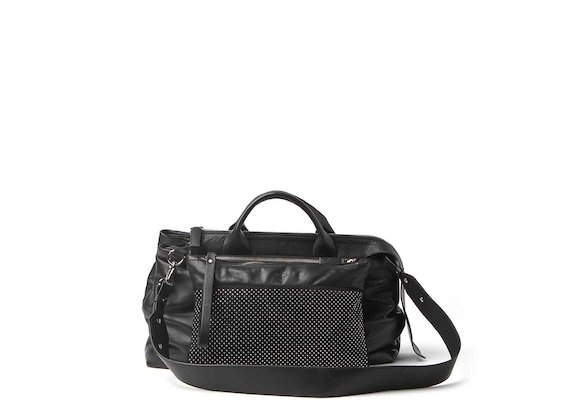 Lena<br />bowler bag with studded clutch