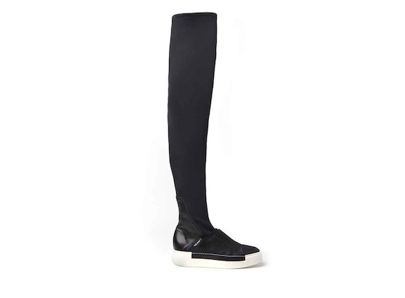 Thigh-high boots with sneaker sole