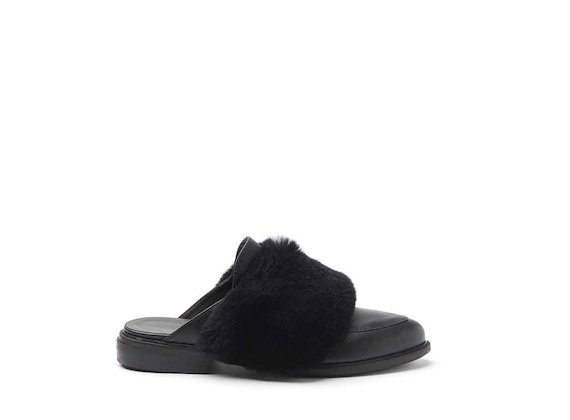 Slip-ons with fur band
