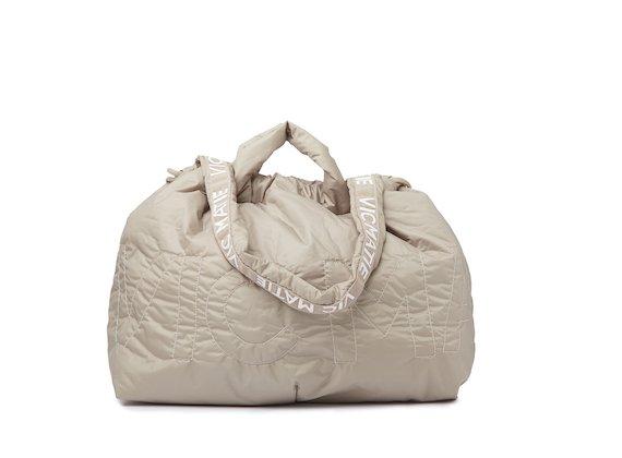 Penelope <br />Beige reversible backpack
