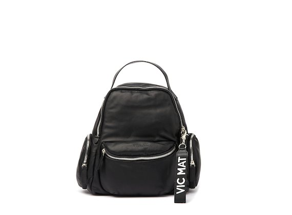 Asia <br />Black backpack with side pockets