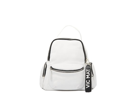Asia <br />White backpack with side pockets