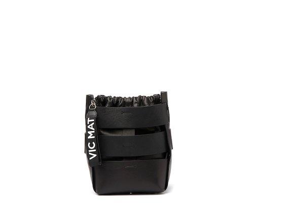 Altea<br />Black cut-out bucket bag