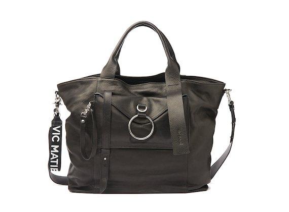 Antonia<br />Black maxi shopper bag