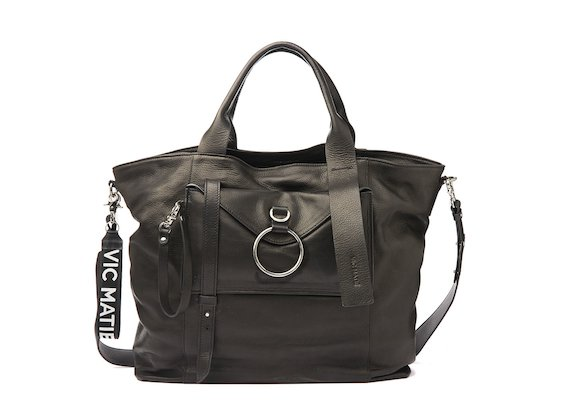 Antonia<br />Black maxi shopper bag