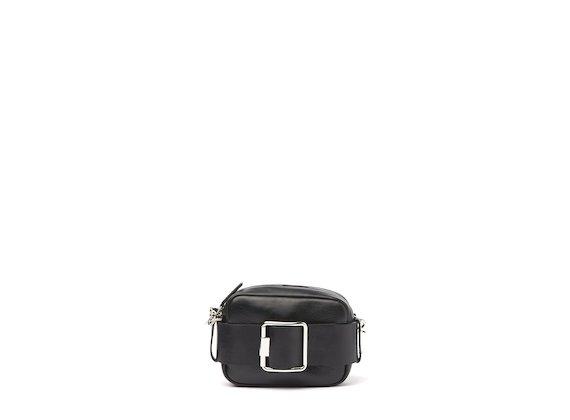 Gwen<br />Mini-bag nera con fibbia