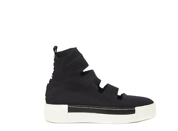 Black cut-out sock sneaker