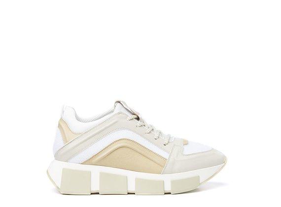 Running shoe beige