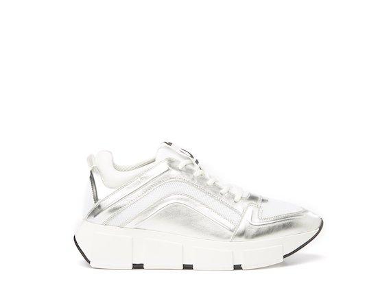 Silver running shoe